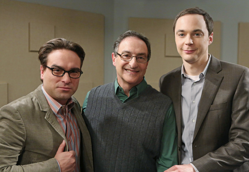 Johnny Galecki, Ira Flatow, Jim Parsons  Photo by Michael Yarish/Warner Bros. Entertainment Inc. © 2013 WBEI. All rights reserved
