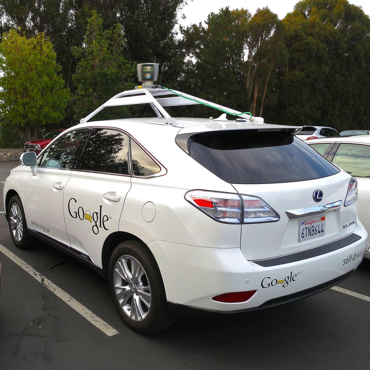 Lexus RX450h retrofitted by Google for its driverless car fleet. Photo by Steve Jurvetson/flickr/CC BY 2.0