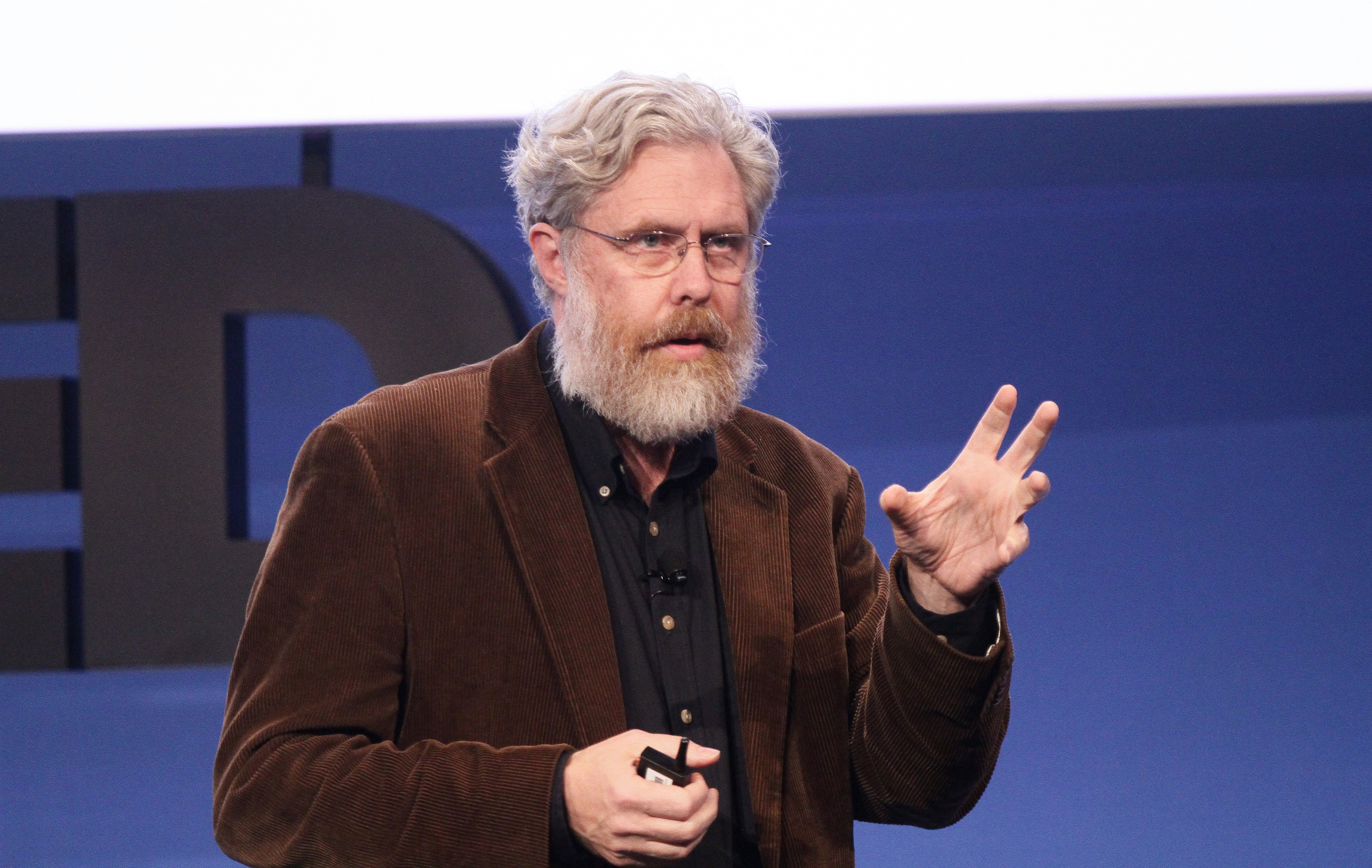 George Church at a 2010 TEDMED event. Credit: Jerod Harris and Sandy Huffaker