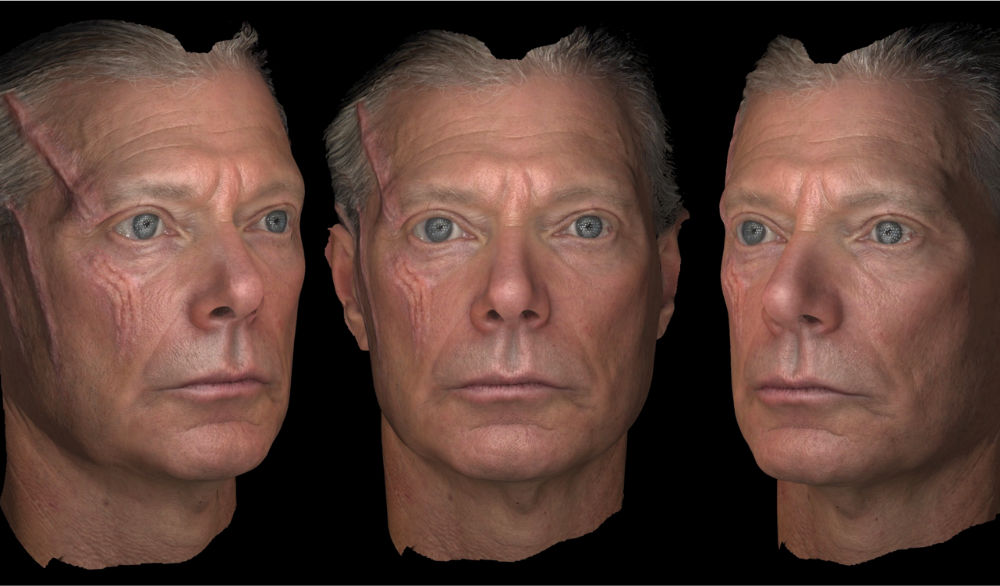 "A digital reconstruction of ""Avatar"" actor Stephen Lang's face. Image courtesy of Paul Debevec and USC's Institute for Creative Technologies"