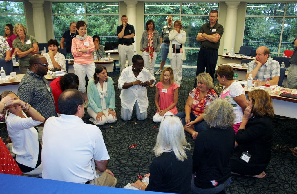 "Educators play ""One for All"" during professional development. Photo by Population Education"