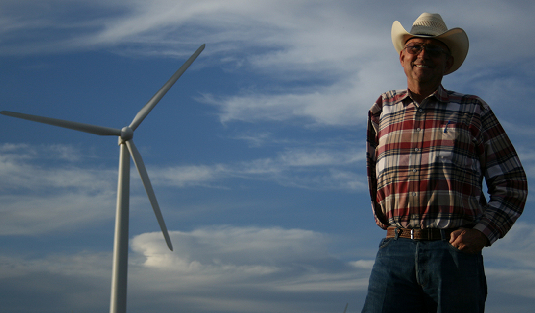 Cliff Etheredge, West Texas Wind Farmer. Image courtesy of Peter Byck