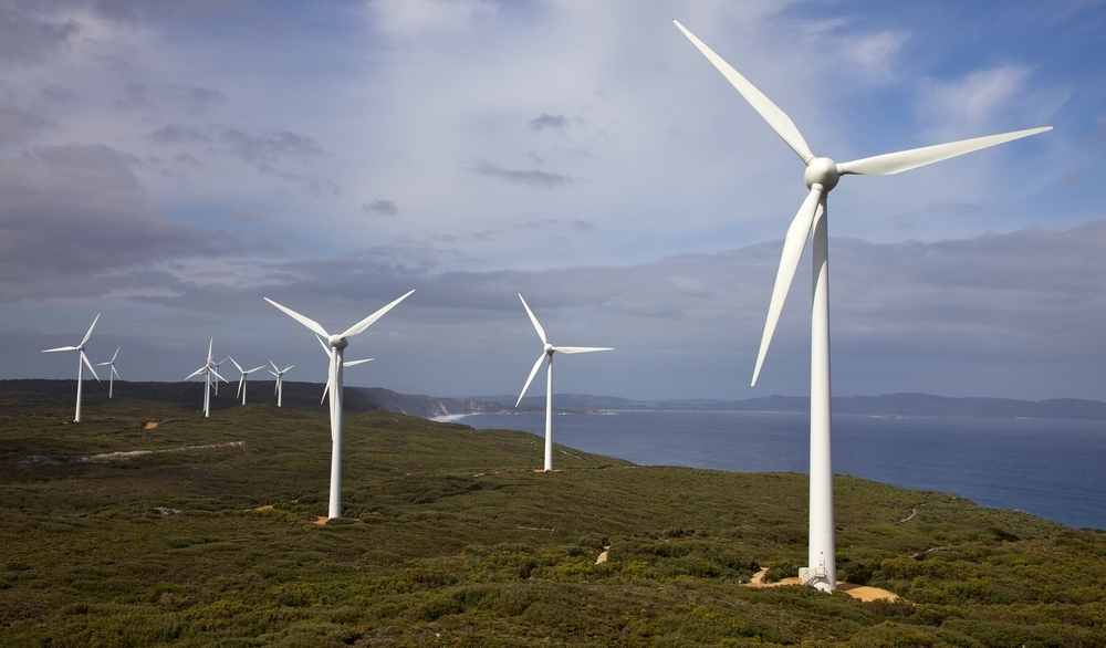Albany Wind Farm, near the town of the same name in Western Australia. Image courtesy of Shuttershock, wind farm