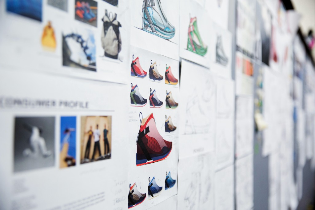 PENSOLE students' ideation wall showing their process. Photo by Marcus Yam