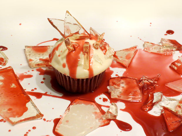 """Bloody Broken Candy Glass Cupcakes for Halloween,"" by solipsism"