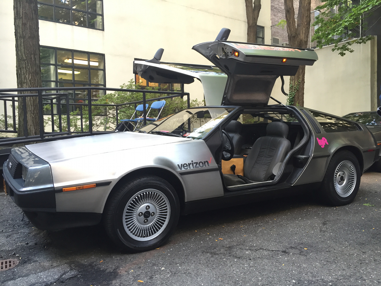 A DeLorean DMC-12, the same model that was turned into a time machine