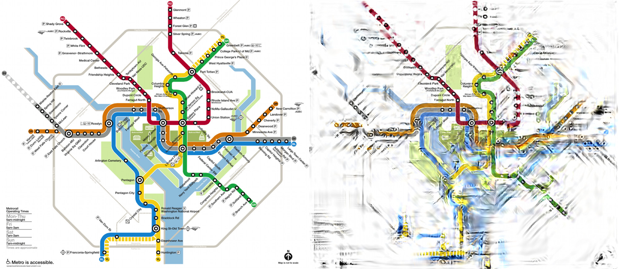 Real Dc Subway Map.Can Science Untangle Our Transit Maps Science Friday