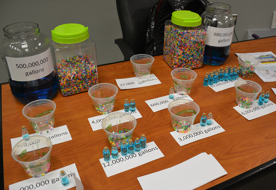 Shelly Grandell created an activity that allows students to explore how much water is used for fracking in Colorado compared to other uses. (Photo: L.S. Gardiner)