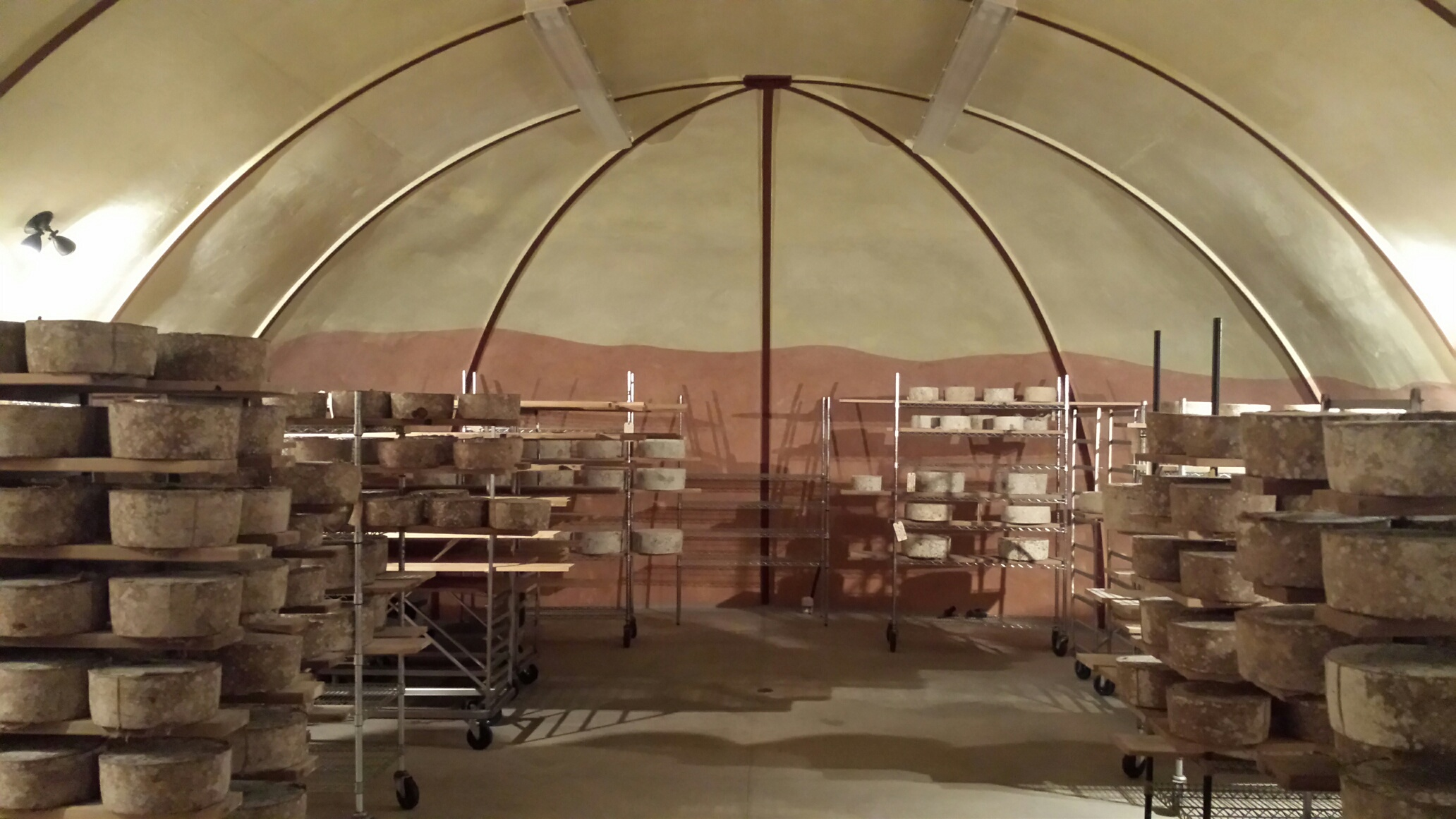 Inside Lehner's cheese cave. Photo by Willi Lehner