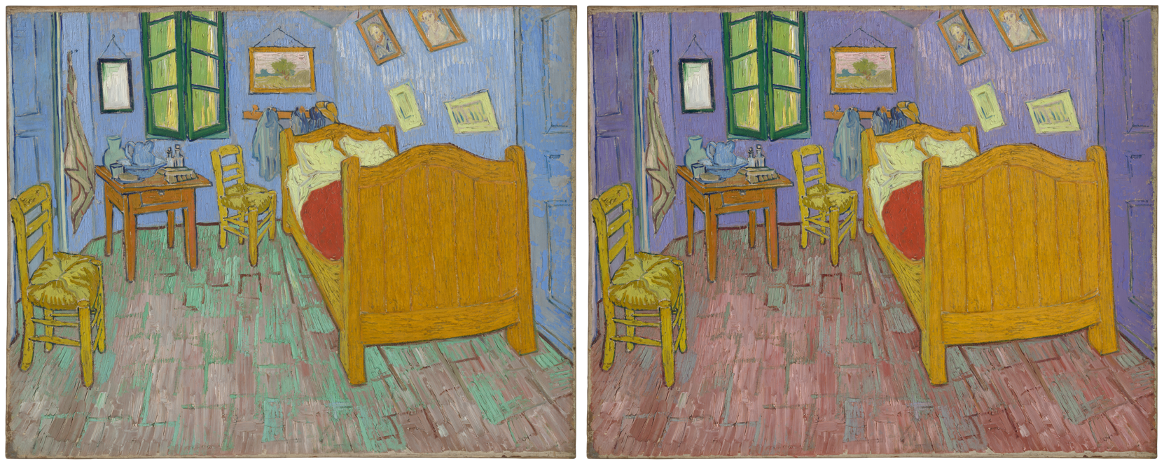 van gogh s bedroom walls weren t always blue science friday rh sciencefriday com van gogh's bedrooms let yourself in van gogh bedroom 3d