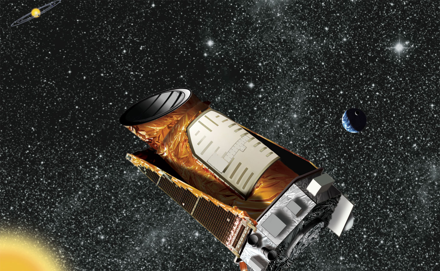 NASA's planet-hunter, the Kepler Space Telescope, Credit: NASA