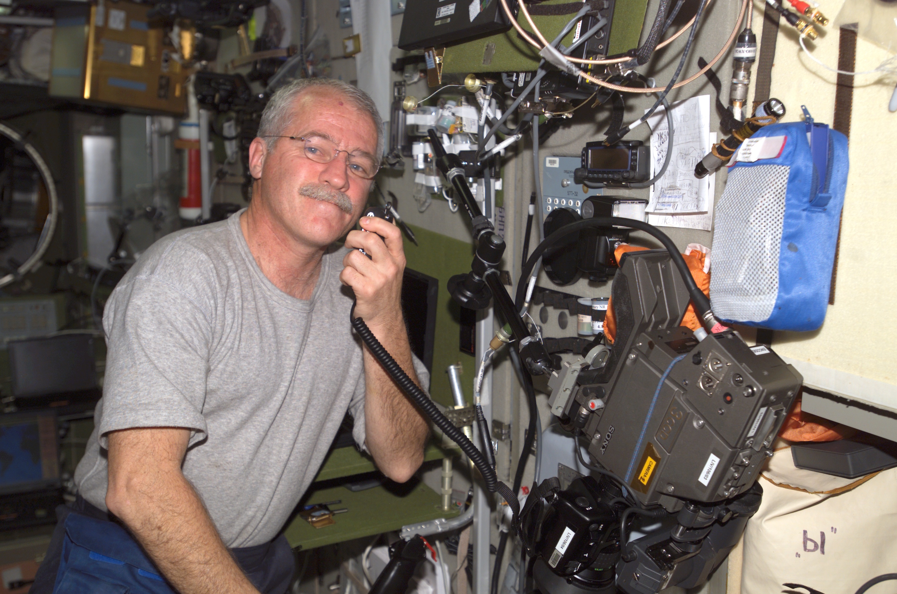 John Phillips, a NASA astronaut who lived on the International Space Station in 2005 experienced sight issues. Credit: NASA
