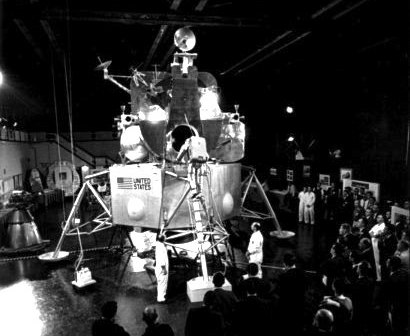 An early version of the Lunar Module. Credit: NASA