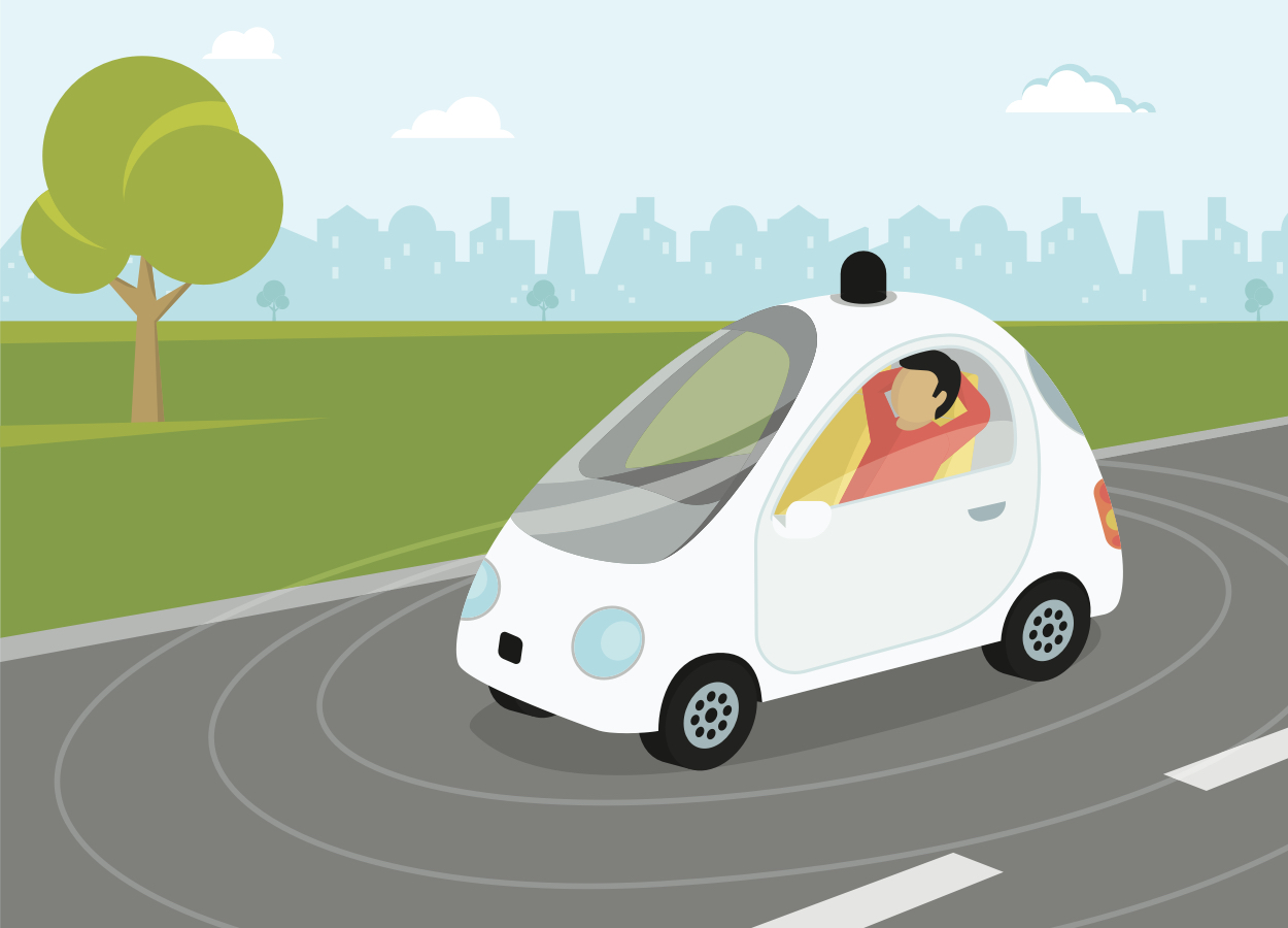 A connected car, via Shutterstock