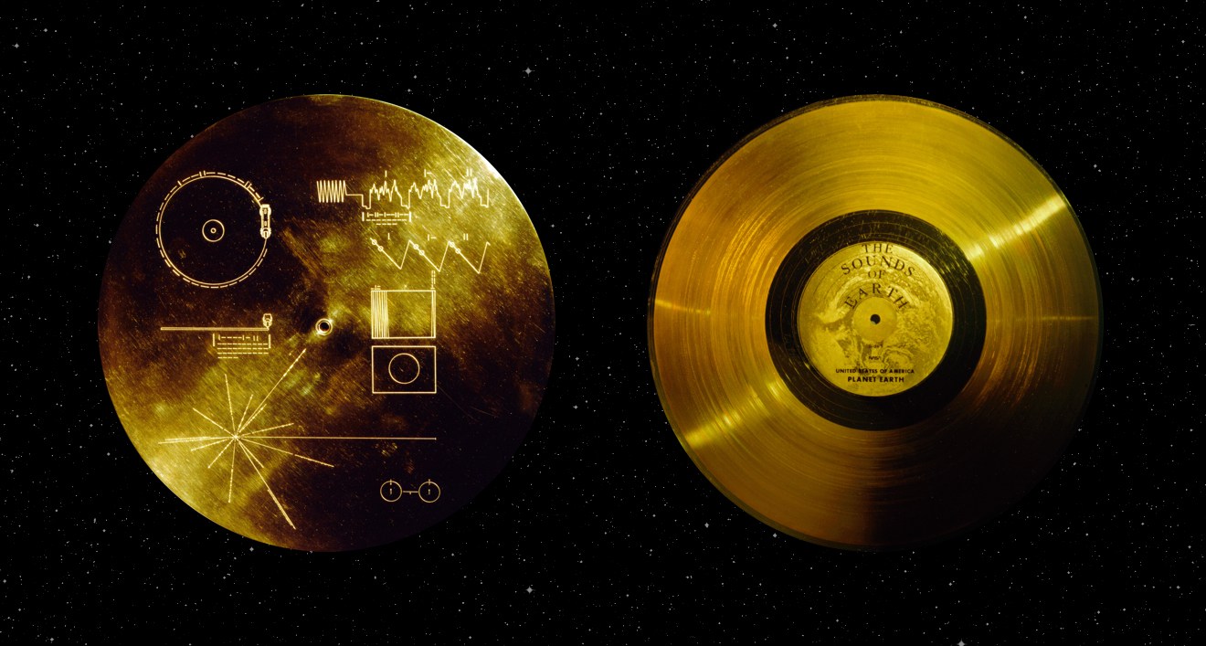 The Golden Record, front and back. Credit: NASA