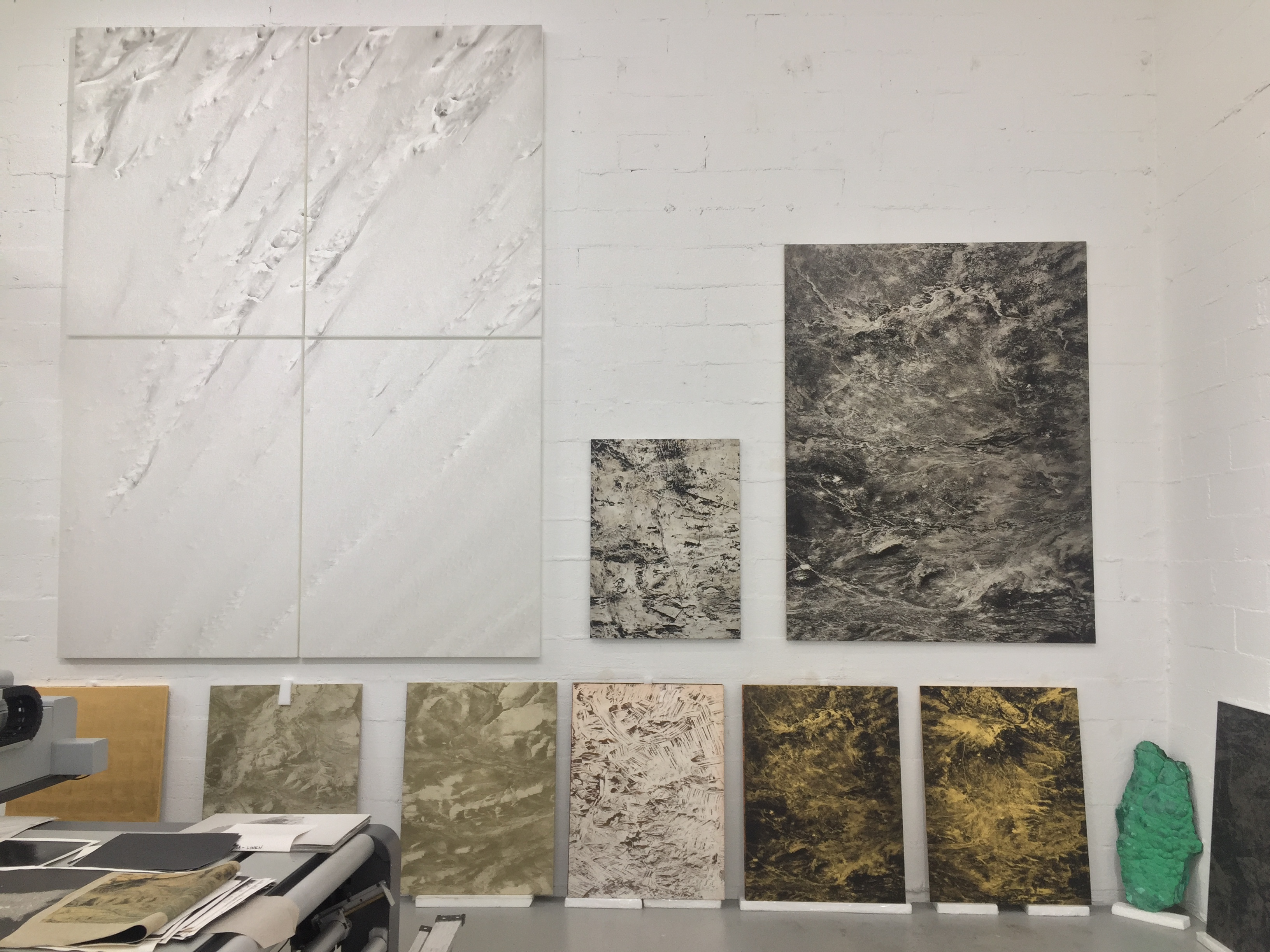 Other works in Guariglia's studio. Credit: Chau Tu