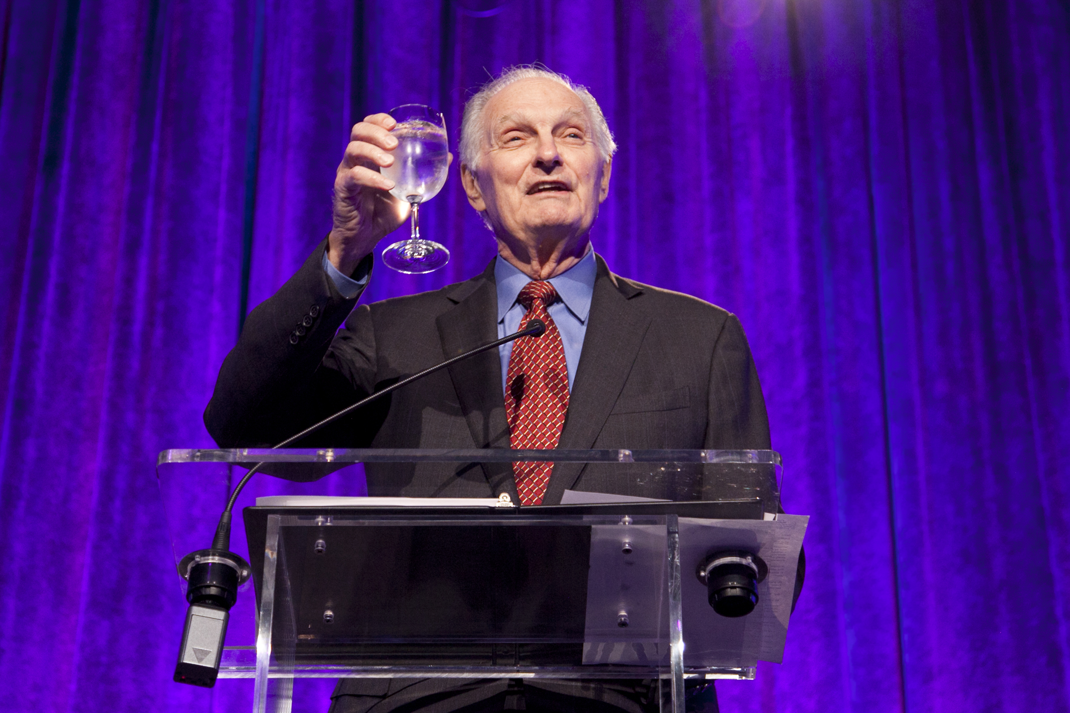 Alan Alda, at Science Friday's 25th Anniversary Gala. Credit: Peter Reitzfeld