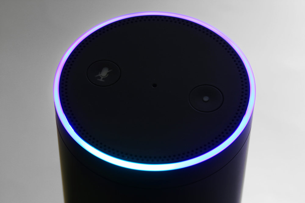 Amazon's digital assistant, Alexa, from Shutterstock