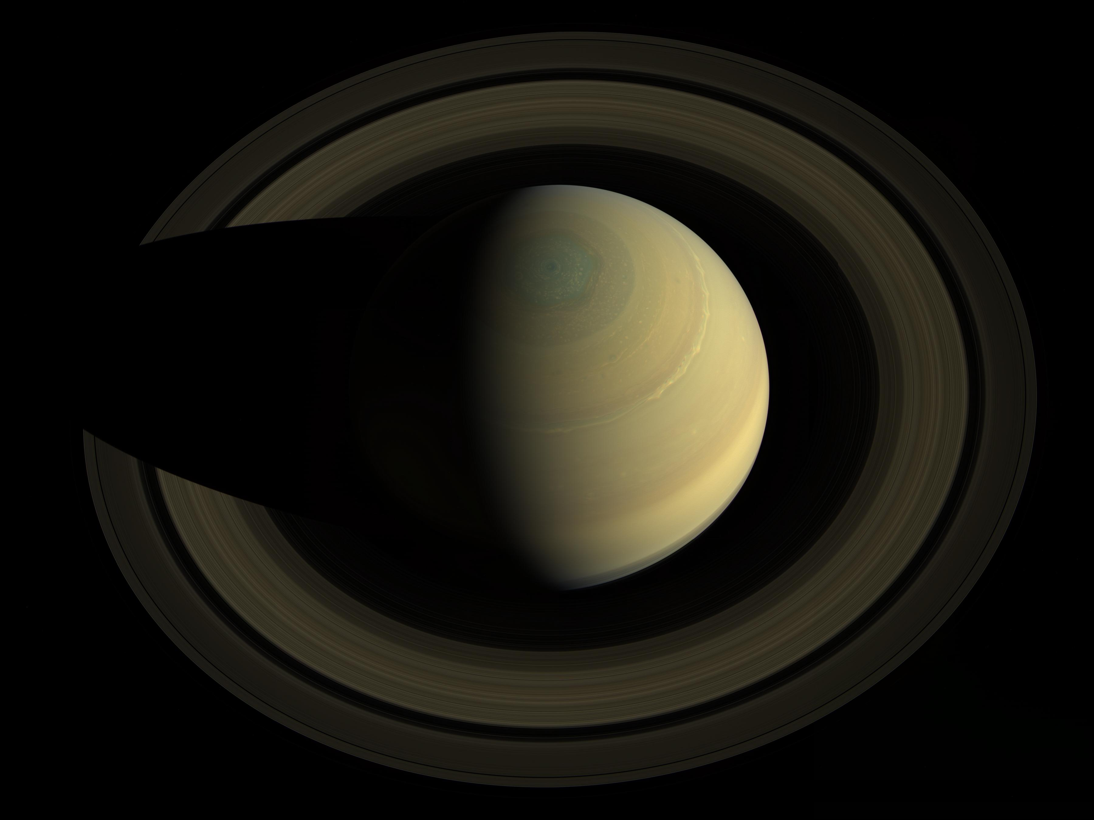 This mosaic was made from 36 images in three color filters obtained by Cassini's imaging science subsystem on Oct. 10, 2013. Credit: NASA/JPL-Caltech/Space Science Institute
