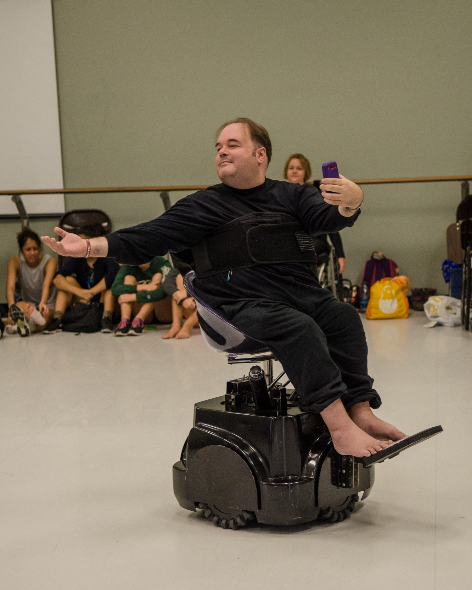 Frank Hull in the Rolling Dance Chair. Photo by Tom Kramer
