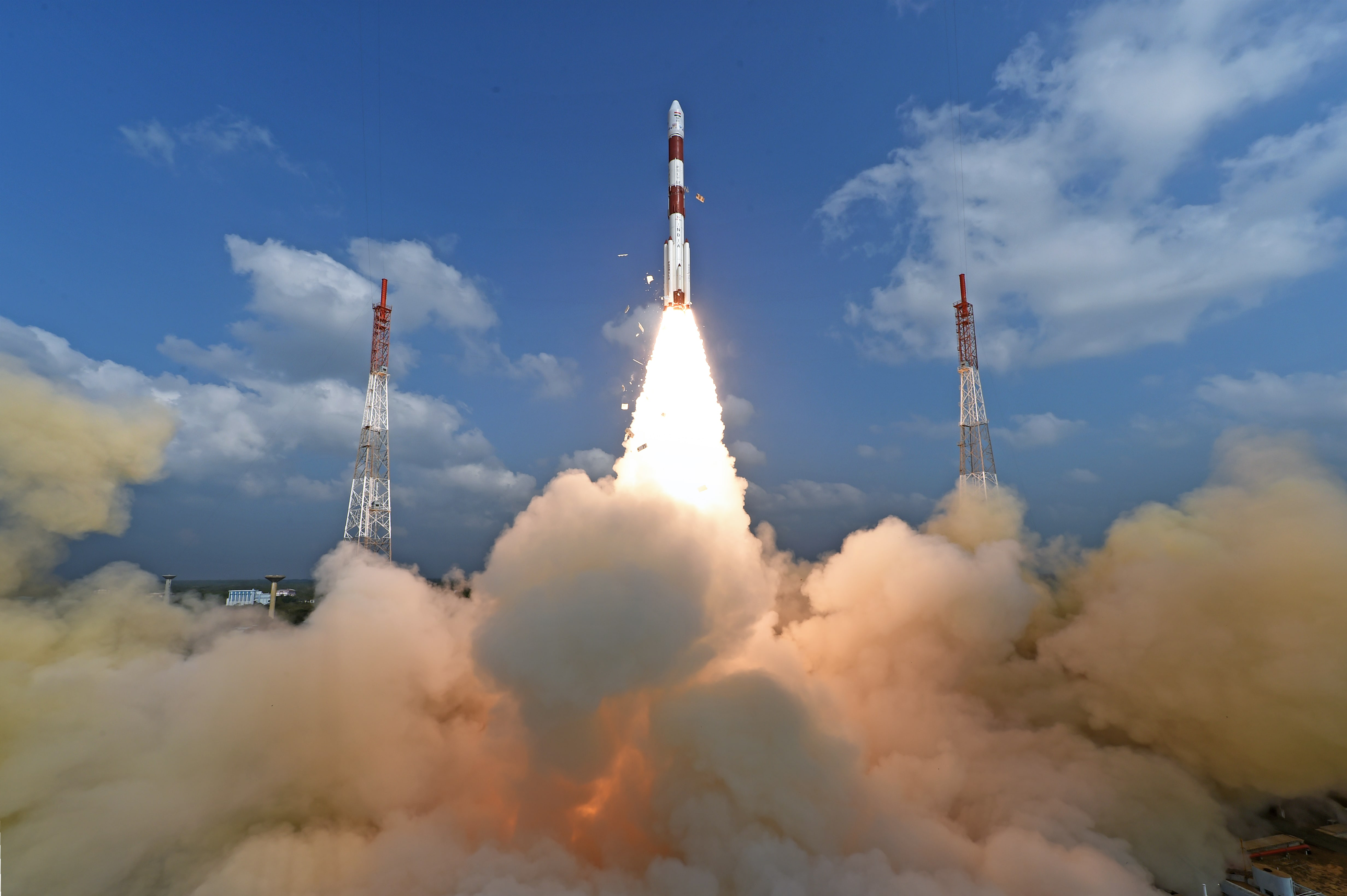 India launched 104 space satellites on Wednesday. Credit: Indian Space Research Organization