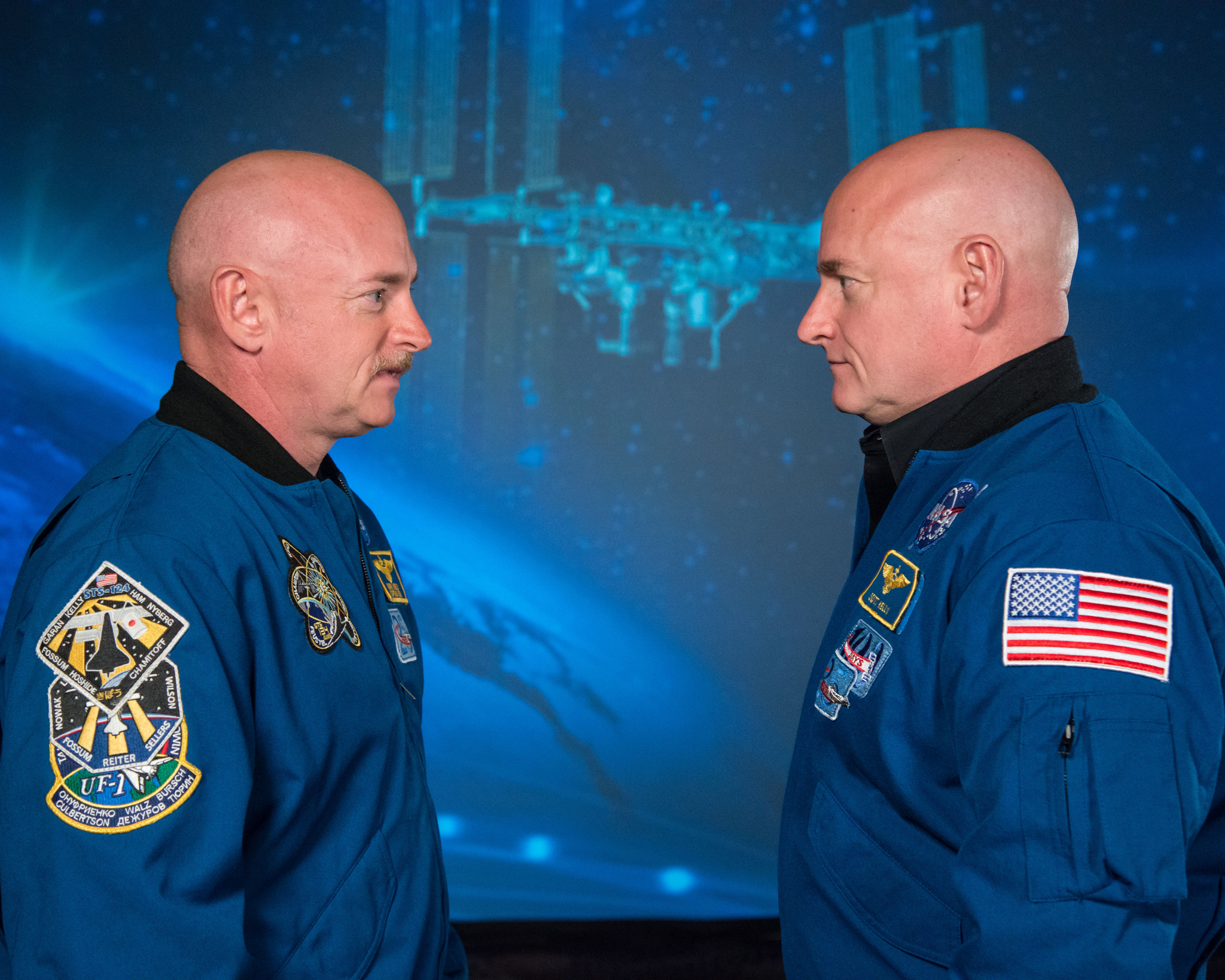 Astronauts Mark and Steve Kelley, who participated in NASA's twins study. Credit: NASA