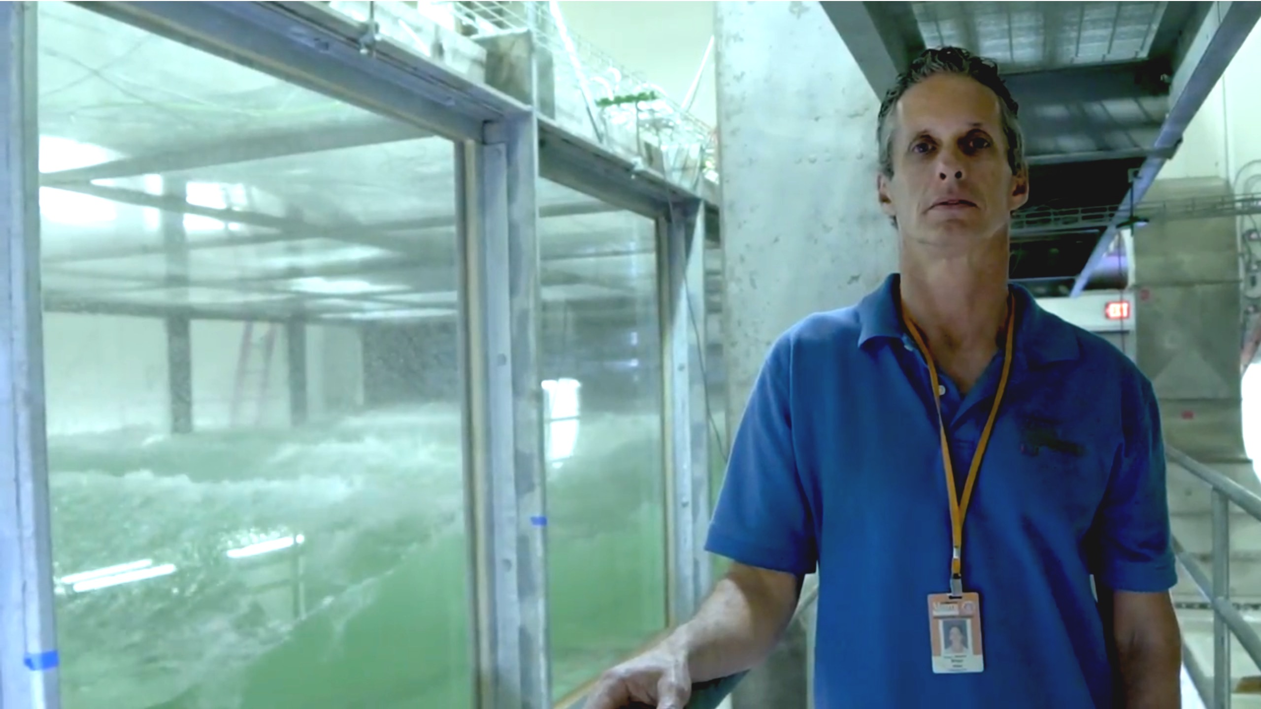 portrait of brian haus next to the sustain lab tank