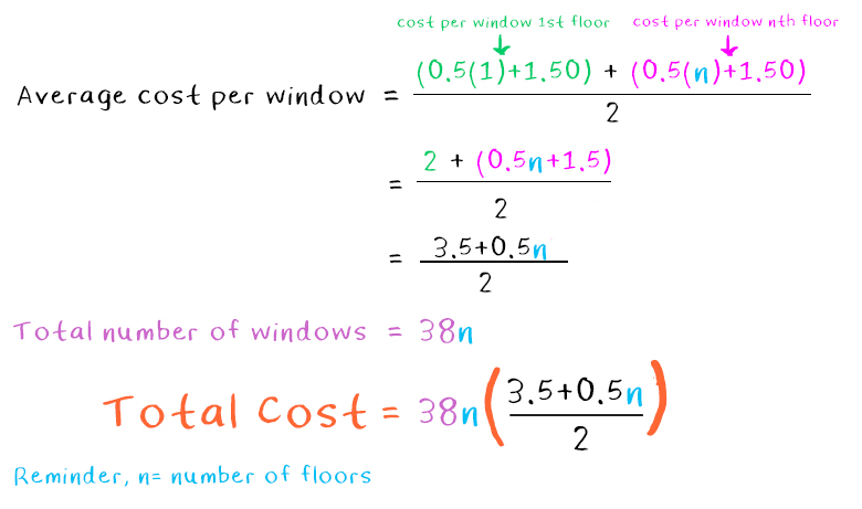 odd number challenge - Cost Of Windows