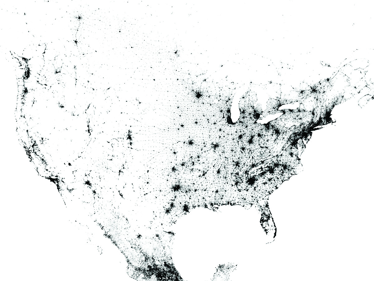 Census Dotmap By Brandon Martin Anderson A Researcher At The Mit Media Lab