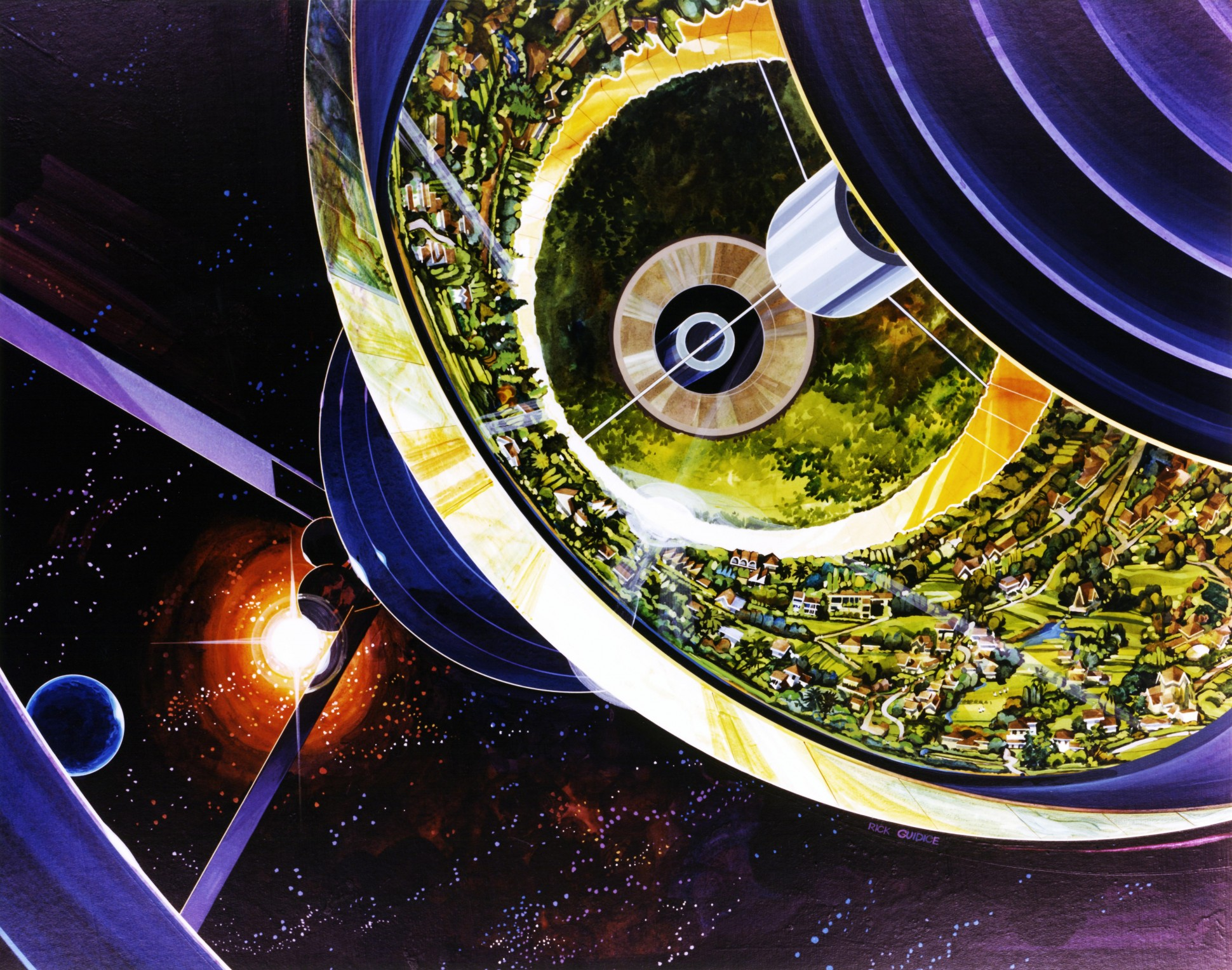 This '70s Artist Painted Our Future in Space