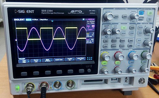 Oscilloscope showing a waveform