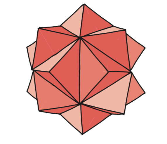 drawing of 20-pointed 3D star