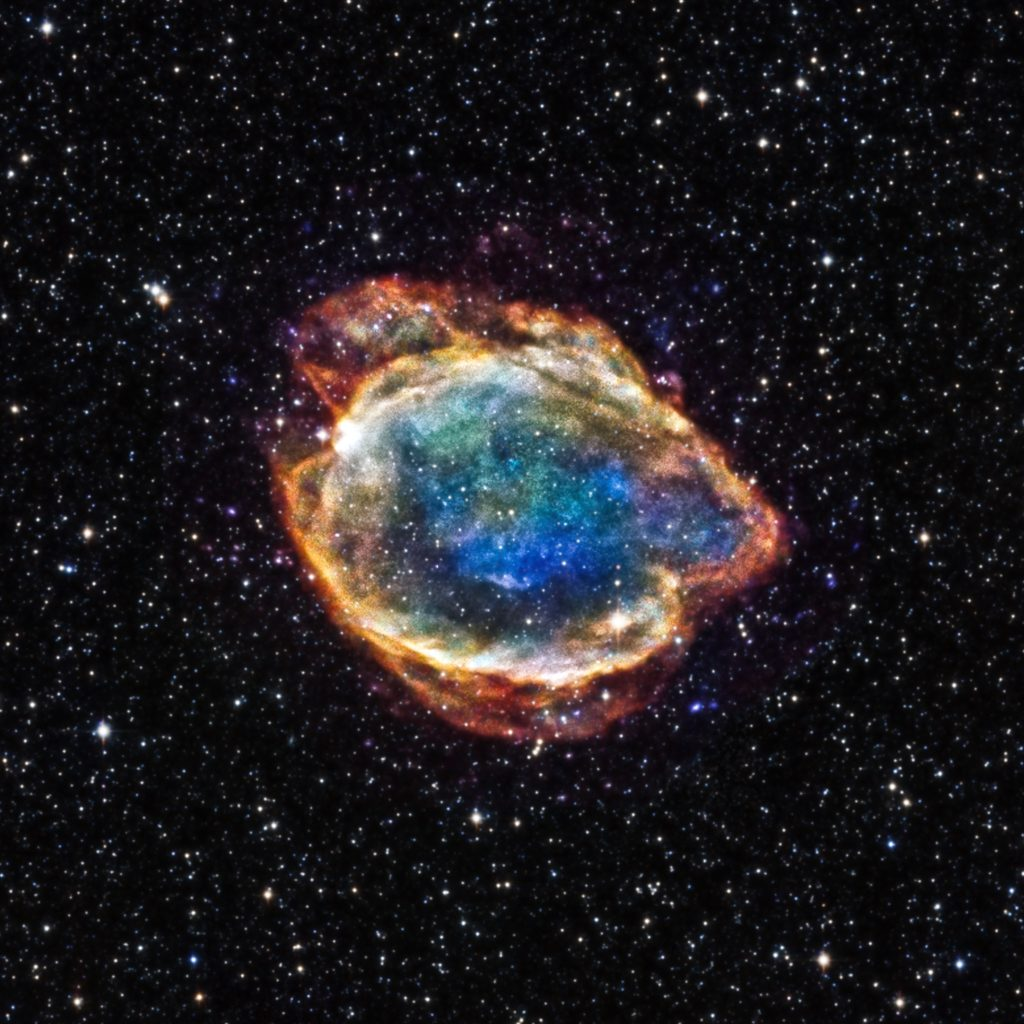 Debris field of an exploded star