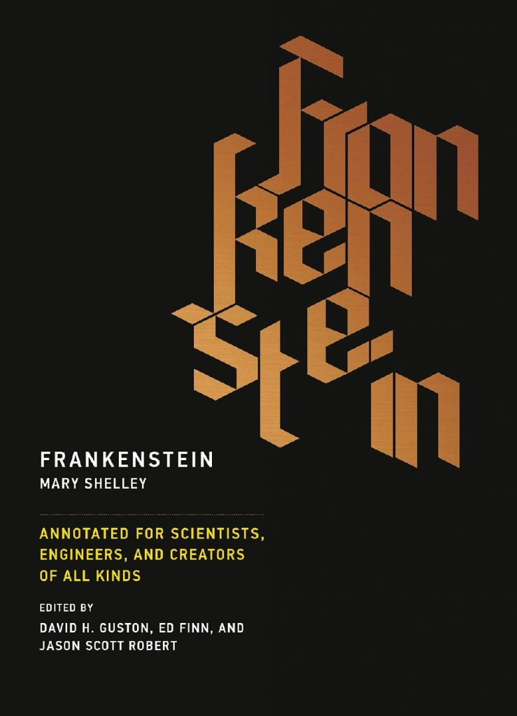 book cover of frankenstein