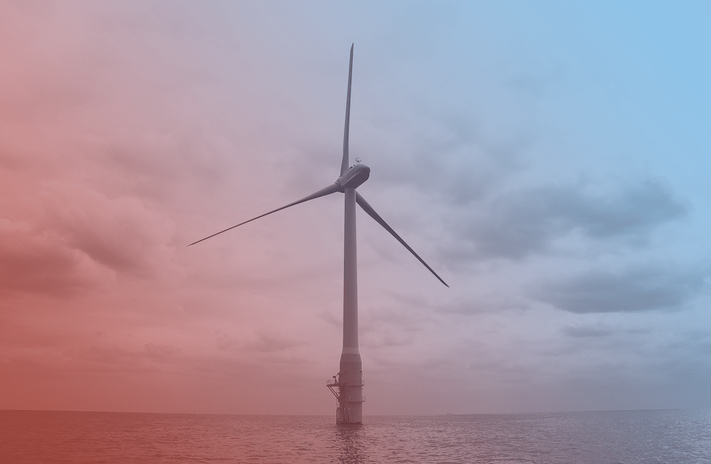 a single offshore wind turbine