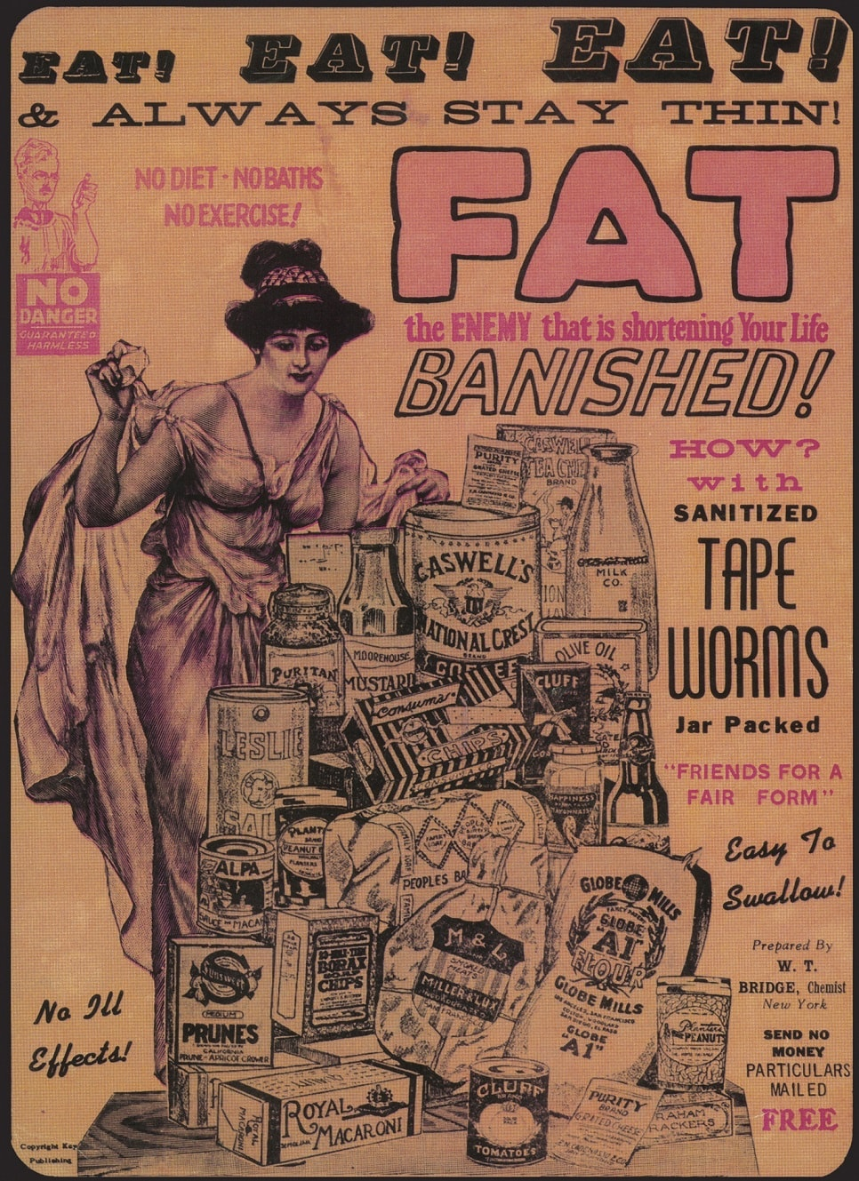 advertisement for tape worms as weight loss treatment