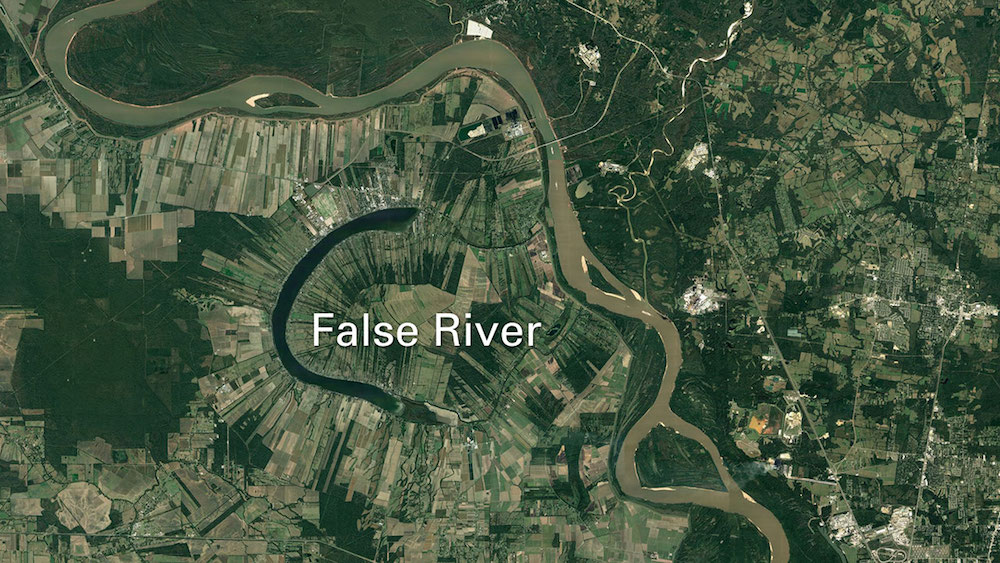 satellite imagery of the lower mississippi