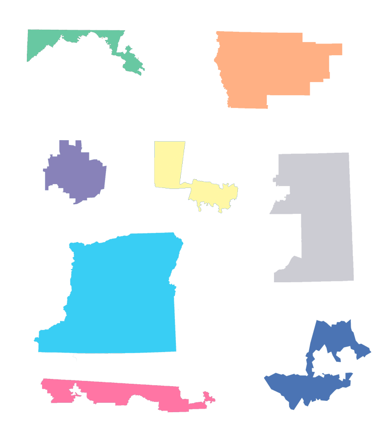real congressional district shapes