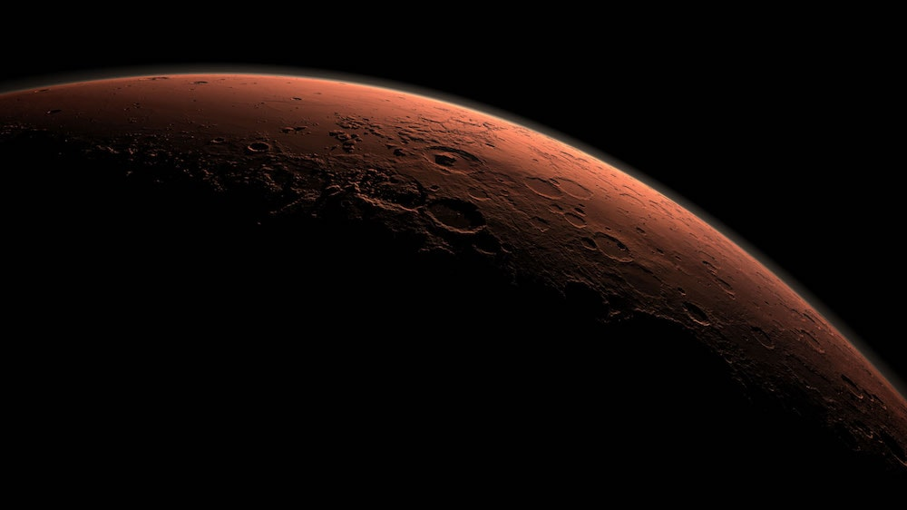 just a sliver of the surface of mars