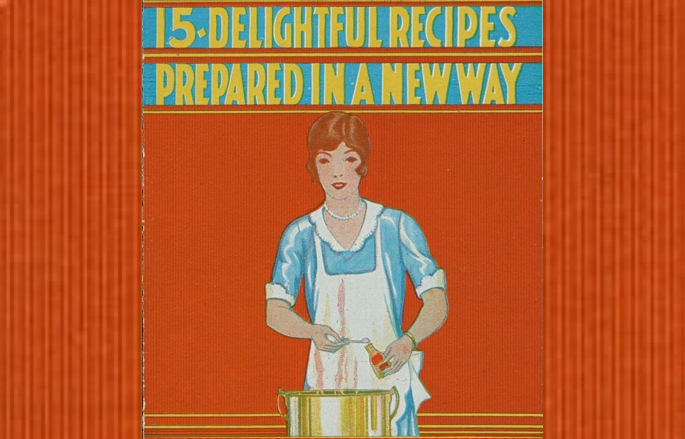 image of a woman on the cover of a cookbook stirring pot