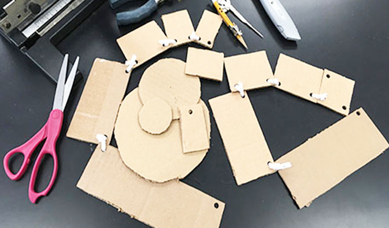 Cut out rectangles and circles for the modeling activity