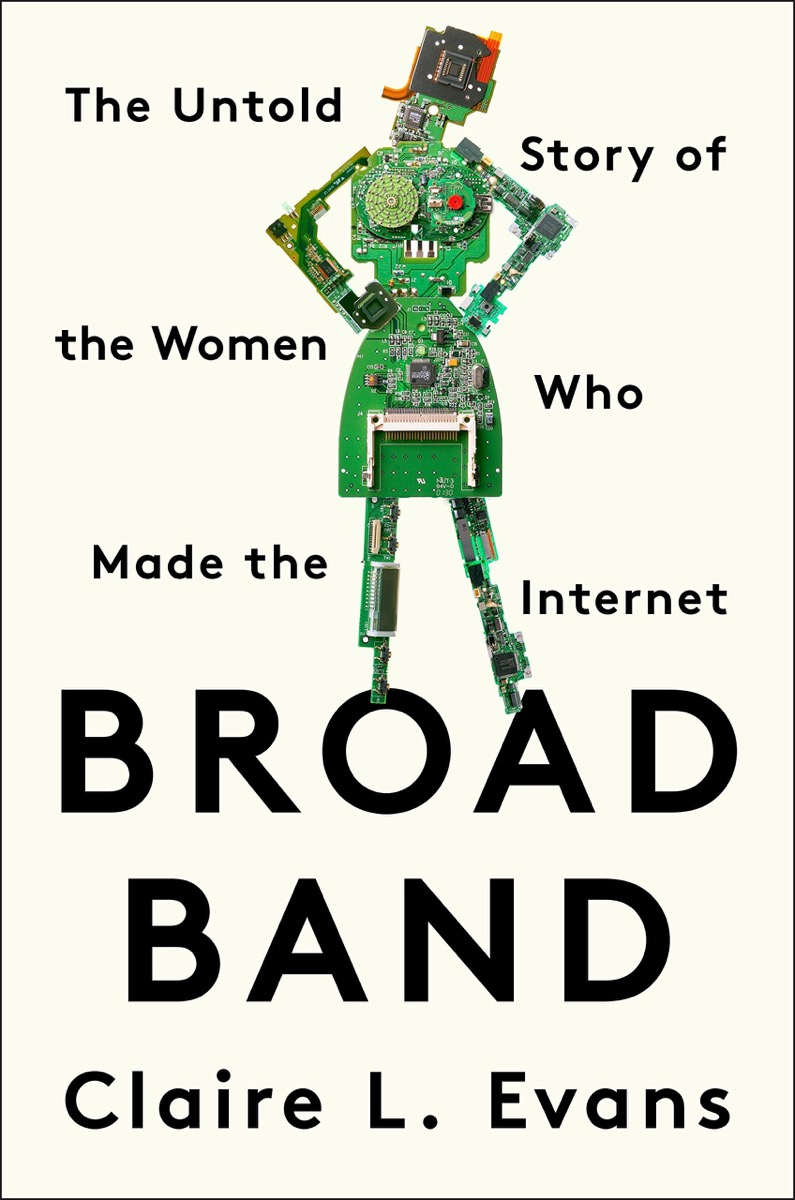 book cover with robot with hands on hips