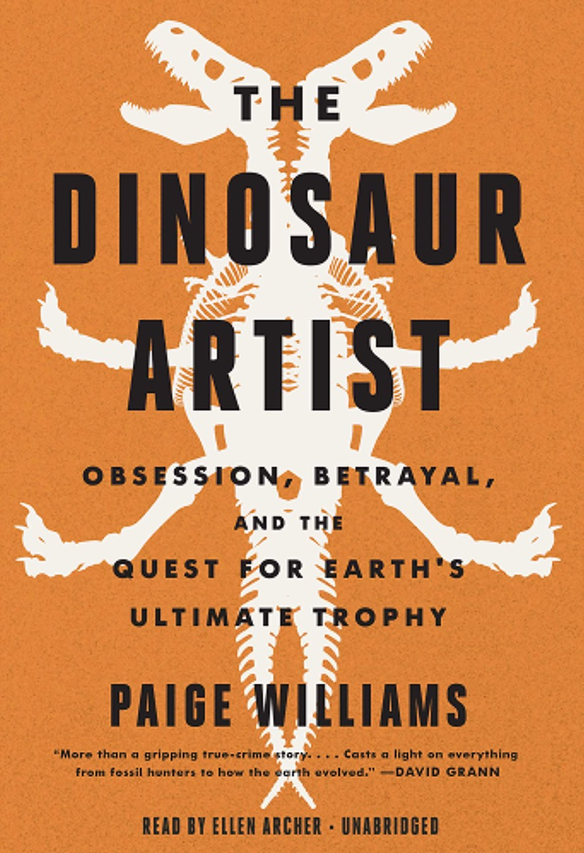 orange cover with illustration of dinosaur skeleton