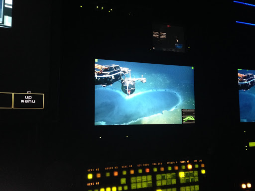 The view from the bottom of the ocean from an ROV pilot's perspective