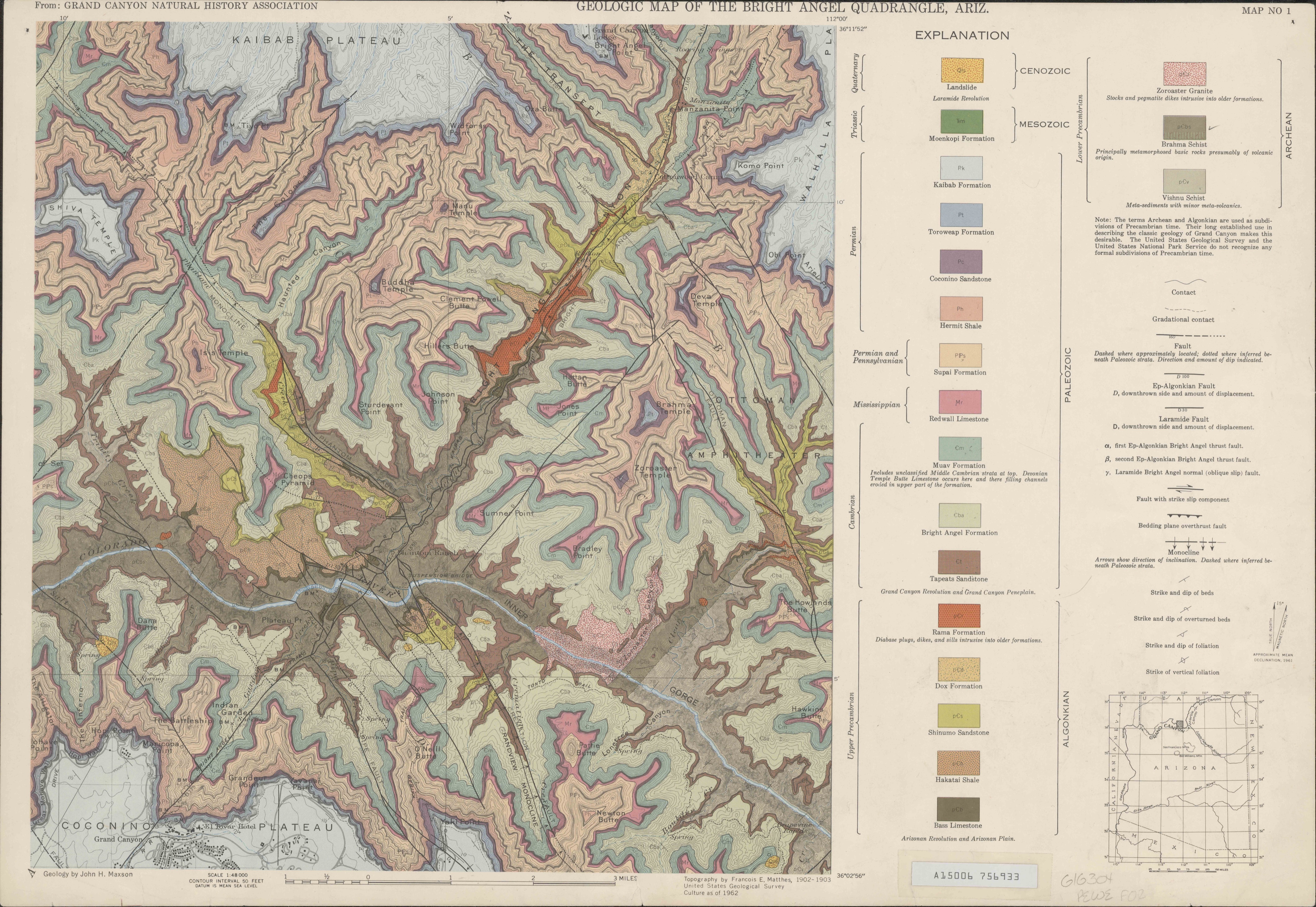 Unfolding Stories In Maps Of The Grand Canyon