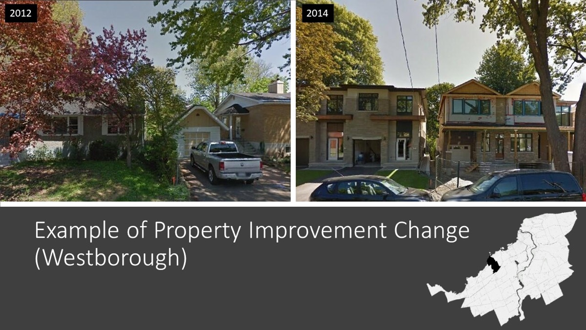 side by side images of houses changed
