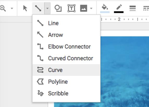 a screenshot of a menu of different lines