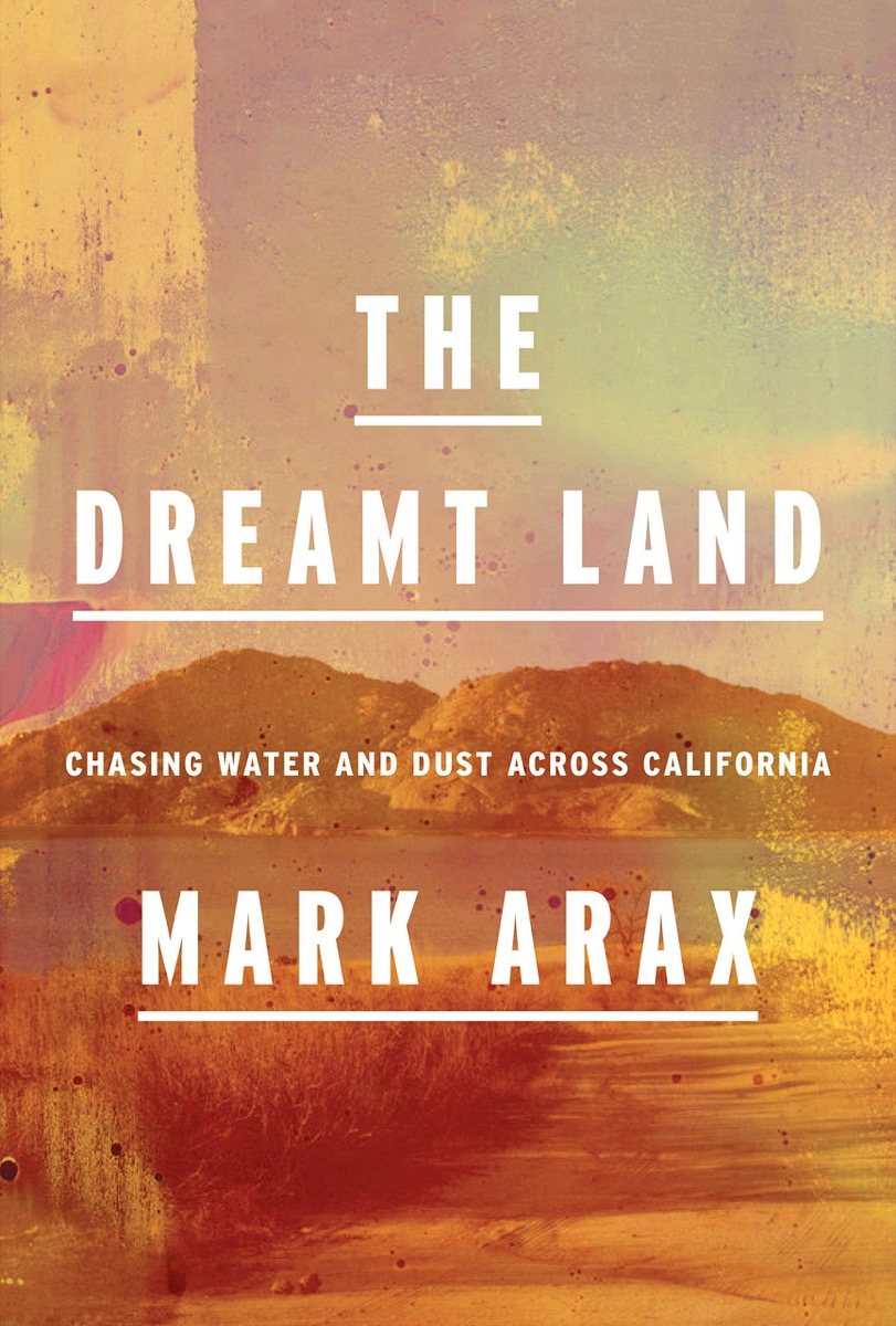 orangeish book cover with a watercolor-like rendition of california hills and white text on top