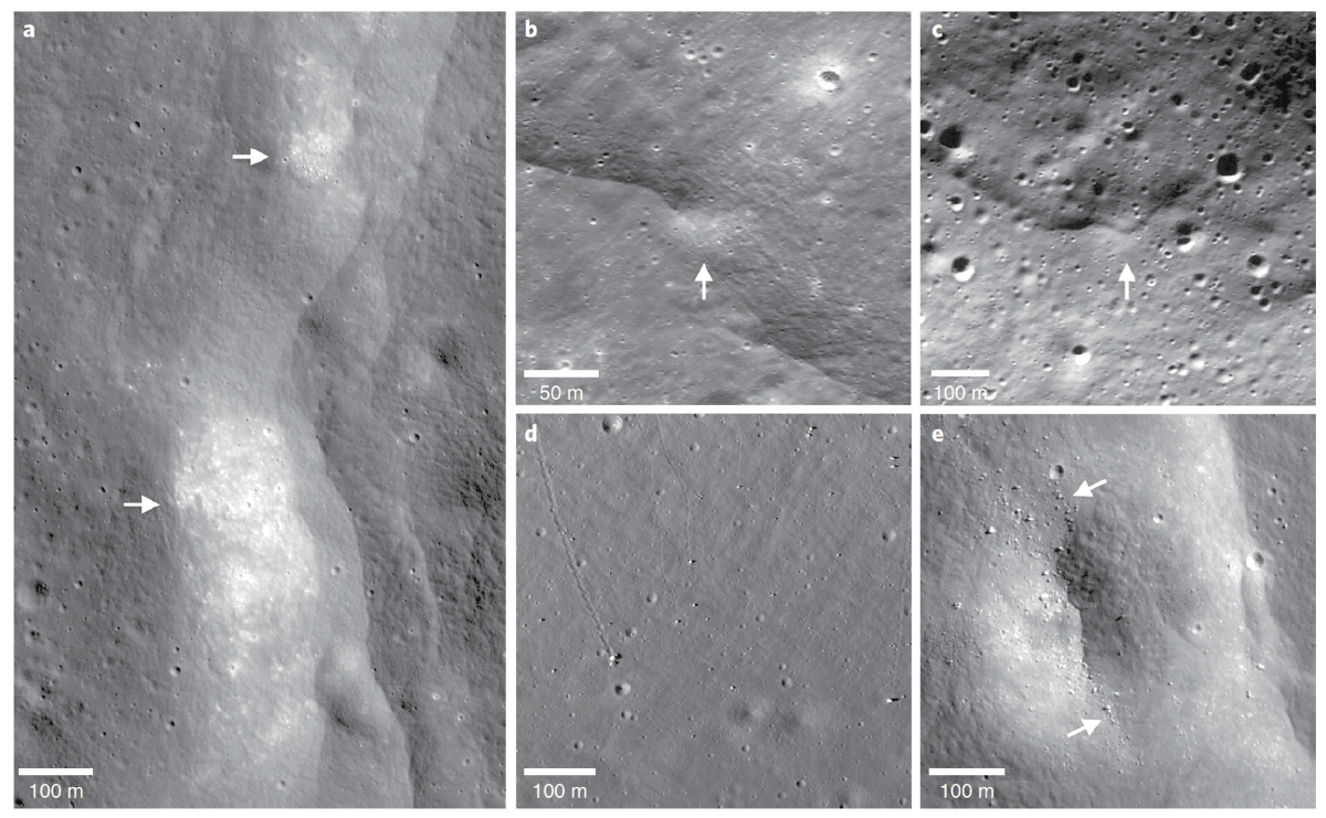a collage of images of the surface of the moon
