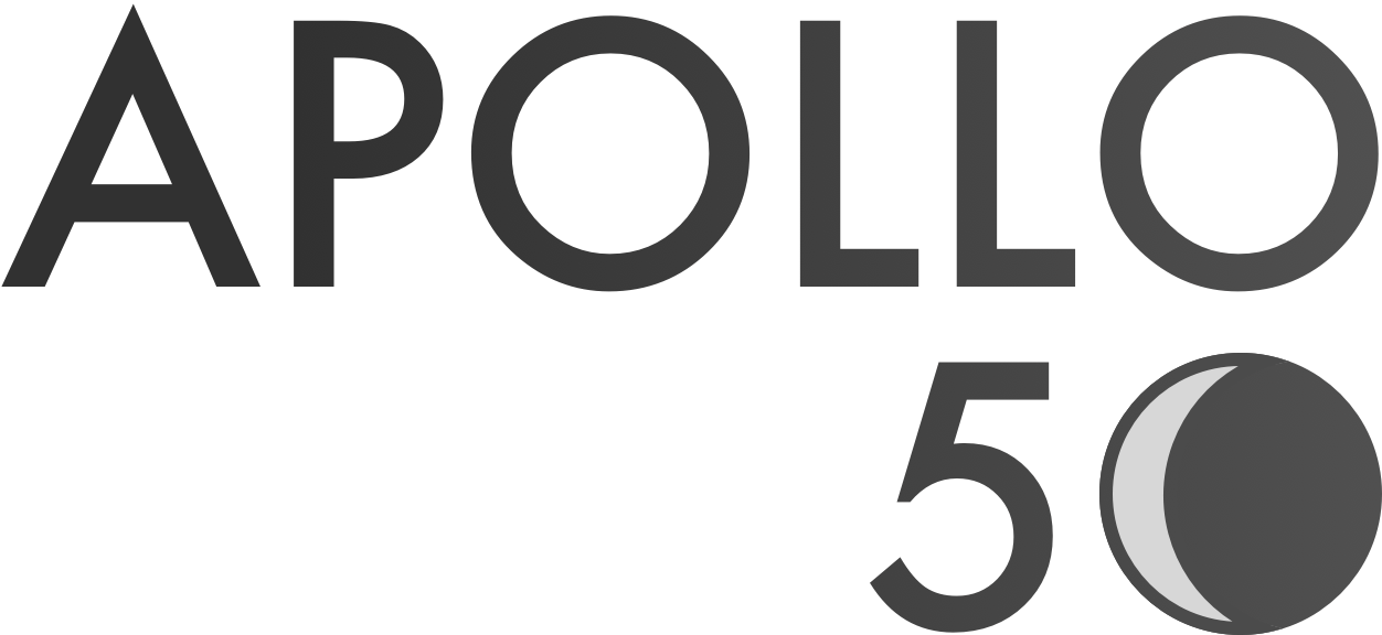 a logo that says 'apollo 50'